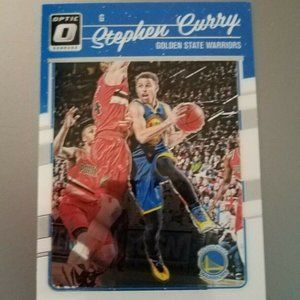 STEPHEN CURRY WARRIORS 2016-17 Donruss Optic Card